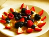 crme brle oatmeal with fresh berries