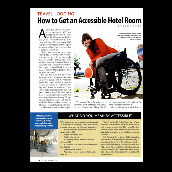 New Mobility Magazine: Get an Accessibe Hotel Room