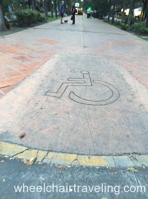 Typical curb cut