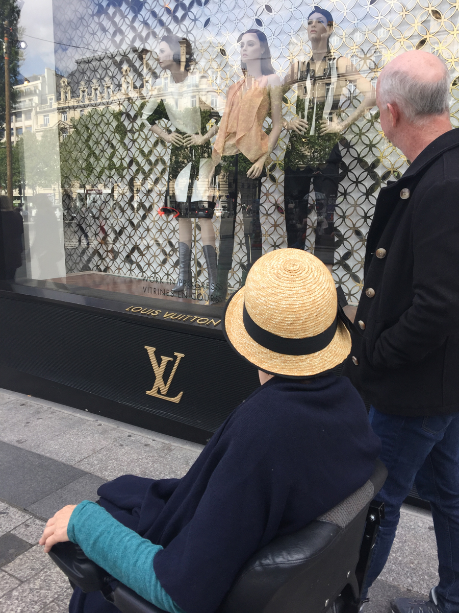 Window shopping at Champs Elysses