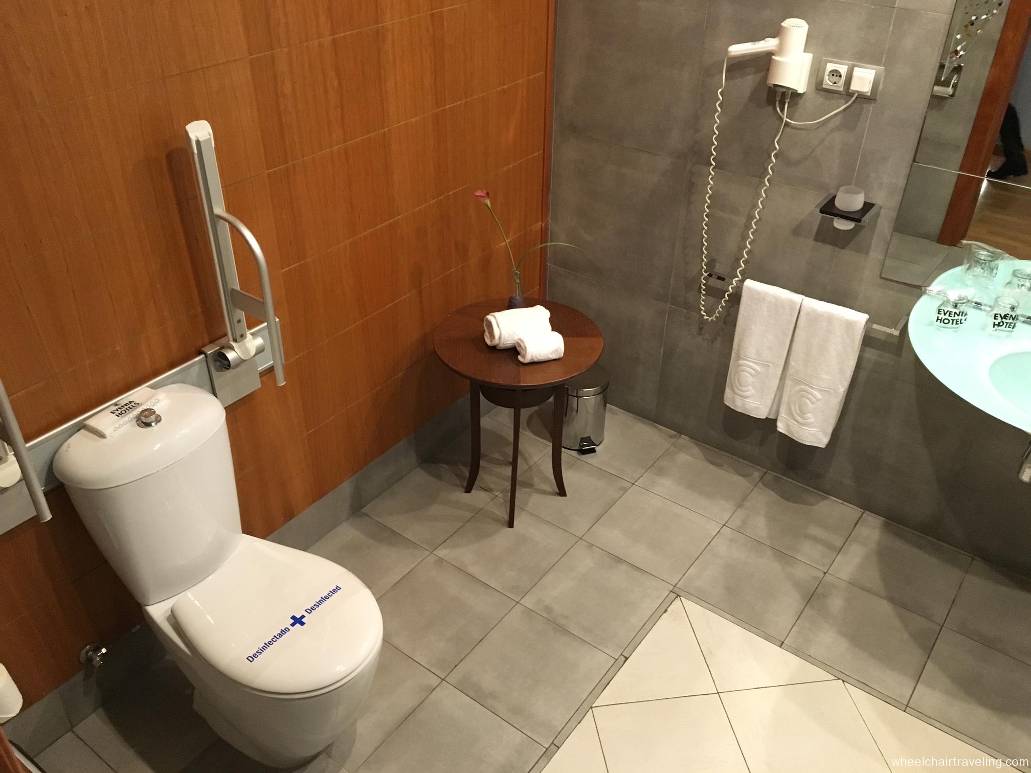 Barcelona hotel bathroom toilet