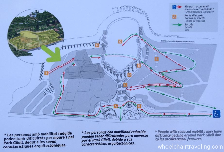 Parc Guell Map