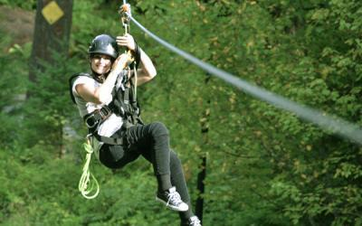 Washington: Zip-Lining at the Gorge