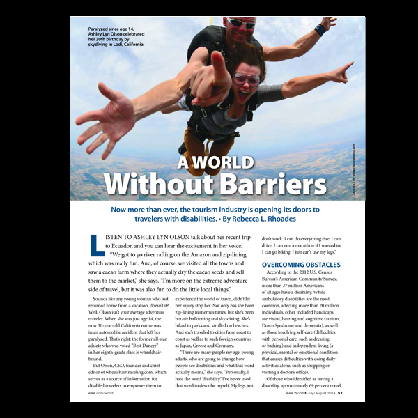 AAA World Magazine: A World Without Barriers